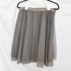 DownEast taupe tulle skirt, L